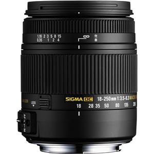 Sigma 18-250mm F3.5-6.3 DC OS Macro HSM Lens for Nikon AF with Optical Stabilizer (Black)