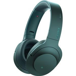 Sony h.ear on MDR100ABN Wireless Noise Cancelling Bluetooth Headphones with Microphone (Viridian Blue)