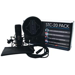 Black NEW Sontronics STC-20 Pack Condenser Microphone with Accessories