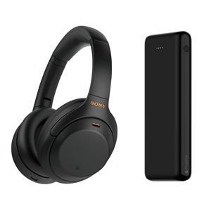 Sony Wireless NC Headphones with Mic + 20000mAh Power Bank