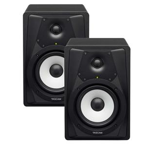 2-Pack Tascam VL-S5 Professional 2-Way Powered Studio Monitor with Kevlar Woofer