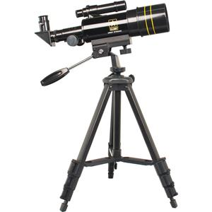 US Army 60mm Refractor Telescope with Alt-Az Mount & Aluminum Adjustable Tripod with Accessory Tray