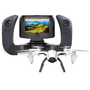 UDI RC Kestrel U28-1 2.4GHz FPV Quadcopter with Wide-Angle 720p HD Camera, Altitude Hold Mode, Remote Controller with Color LCD Screen Included, Black/White