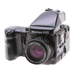 Mamiya 645 PRO,80mm 2 8 Lens, AE Prism Finder,Grip &120 Back