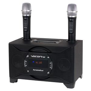 VocoPro KaraokeDual 100W Tablet/Smart TV Karaoke System with 2 Wireless Microphones