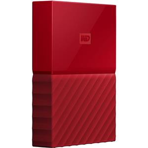 Western Digital My Passport 4TB USB 3.0 Portable External Hard Drive (Red)