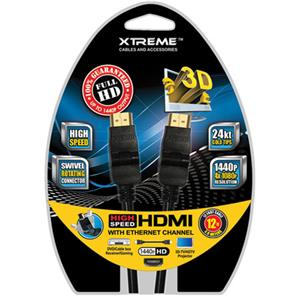 Xtreme Cables 12 Foot High Speed Swivel 180 Degree HDMI Cable 74182
