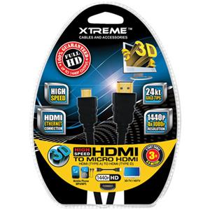Xtreme Cables 3 Foot High Speed Micro HDMI 74203