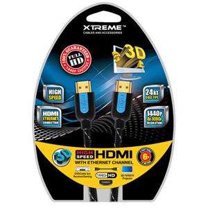 Xtreme Cables 6 Feet High Speed Braided HDMI Cable 84106