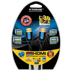 Xtreme Cables 12Ft Braided HDMI Cable with Ethernet: Picture 1 regular