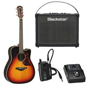 Yamaha A3R Dreadnaught Folk Electric Guitar Bundle