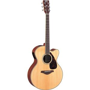 Yamaha FJX720SC 6 String Solid Spruce Top Acoustic Electric Guitar - Natural