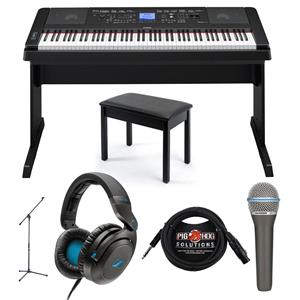 Yamaha dgx 660 88 keys grand digital piano black with full for Yamaha dgx 660 bundle