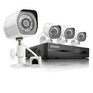 Zmodo ZP-KE1H04-S Zmodo 4-Channel 4-Camera 720p HD NVR sPoE Security System