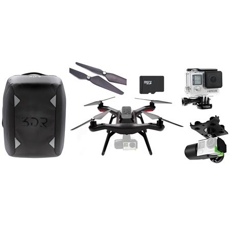 3D Robotics Solo Ready-to-Fly Aerial Photography Quadcopter, Bundle With  HERO4 Black Action Camera + 32GB U3 Micro SDHC Card + 3D Robotics Solo  Gimbal