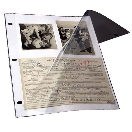Archival Methods Page Protector 3-Ring 10x11, Pack of 25