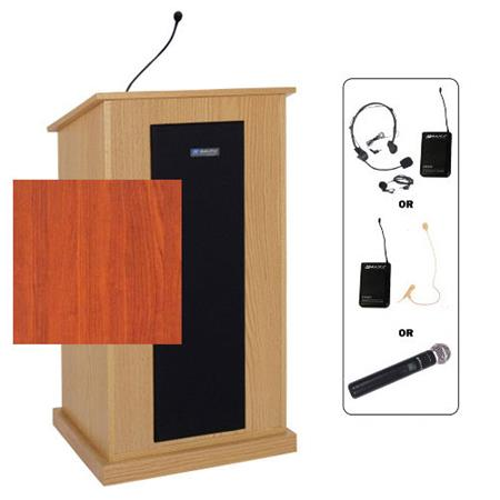 amplivox sw470 wireless chancellor lectern with lapel