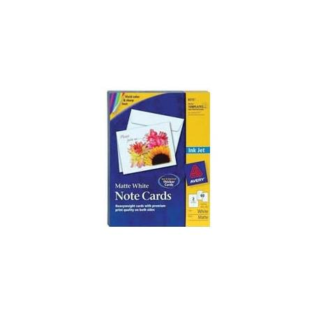 avery dennison matte coated white note cards for inkjet printers 30