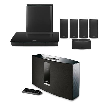 bose lifestyle 600 home theater system with bose soundtouch 20 series iii system. Black Bedroom Furniture Sets. Home Design Ideas