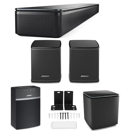 bose soundtouch 300 soundbar black with bose speaker bundle. Black Bedroom Furniture Sets. Home Design Ideas