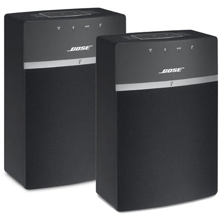 bose 2x soundtouch 10 wireless music system with remote control black 731396 1100 2. Black Bedroom Furniture Sets. Home Design Ideas
