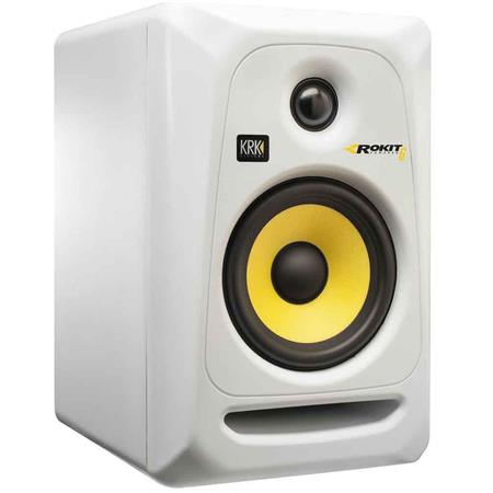 krk rokit 6 g3 6 two way active studio monitor speaker single white rp6g3w. Black Bedroom Furniture Sets. Home Design Ideas
