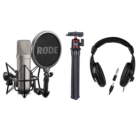 rode microphones nt1 a quiet studio condenser microphone with headphone bundle nt1 a a. Black Bedroom Furniture Sets. Home Design Ideas