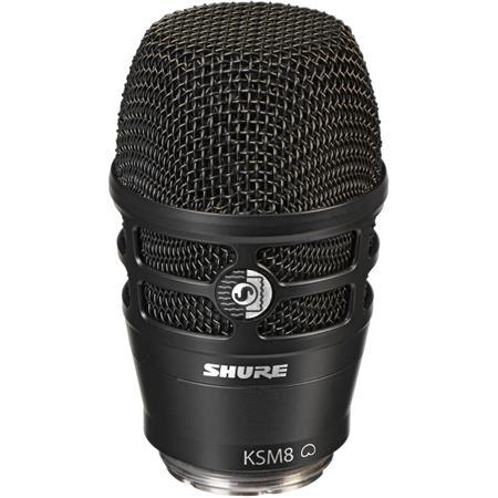 shure ksm8 dualdyne cardioid dynamic wireless microphone capsule black rpw174. Black Bedroom Furniture Sets. Home Design Ideas