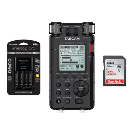tascam dr 100mkiii stereo linear pcm recorder w 4aa batteries charger 32gb card dr 100mkiii d. Black Bedroom Furniture Sets. Home Design Ideas