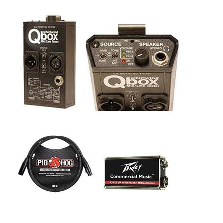 Whirlwind Qbox Audio Line Cable Tester Test Tone Genrator