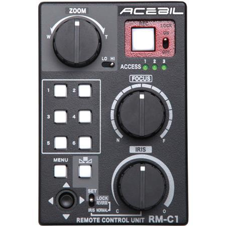 Acebil RM-C1 Lens Remote Control Box for Canon EOS C100, C300, C500 and  Sony LANC Camera, Zoom / Focus / Iris Control