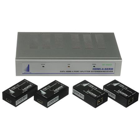 Apantac 4-Port HDMI Splitter/Extender with 4x HDMI HDMI-SET-4