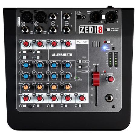 allen heath zedi 8 8 channel hybrid mixer with usb interface zedi 8. Black Bedroom Furniture Sets. Home Design Ideas