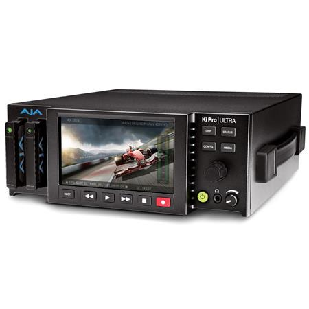AJA Ki Pro Ultra 4K Video Recorder and Player with Built-in HD LCD Monitor,  4K 60p Support