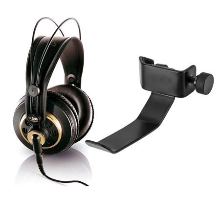 AKG K240 Studio Semi-Open Over-Ear Professional Headphones + H&A Clamp