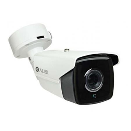 Alibi 6MP Day Night Outdoor IP Bullet Security Camera With 4mm Lens 270 IR WDR H265 White Black