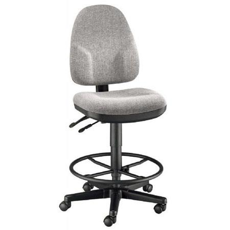 Outstanding Alvin Monarch High Back Drafting Height Chair With Ck49 Height Extension Kit Medium Gray Machost Co Dining Chair Design Ideas Machostcouk