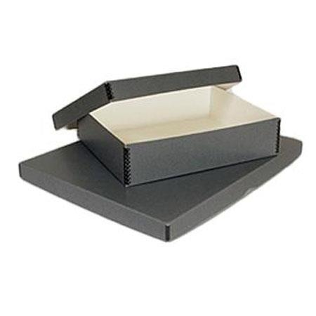 Print File Drop-Front Metal Edge Archival Storage Box 12x15.5x3 Gray
