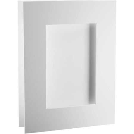 Archival Methods 13x19 Bright Pre Cut Exhibition Mat 4 Ply 2 Ply 10x16 Opening Centre 11x17 Print 5 Pack White