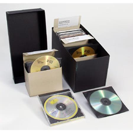 archival methods cd dvd storage kit includes short top box 3x cd dvd caddies 60 155. Black Bedroom Furniture Sets. Home Design Ideas
