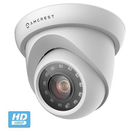 Amcrest ProHD 2MP Dome Outdoor Quadbrid Security Camera, 98' Night Vision,  2 8mm Lens, White