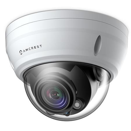 Amcrest ProHD 2MP Outdoor PoE Dome IP Camera, IR, 3x Optical Zoom, White