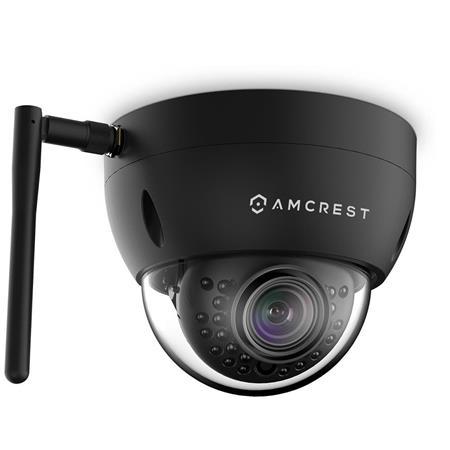 Amcrest ProHD 3MP Outdoor Wi-Fi Vandal Dome IP Camera, Black