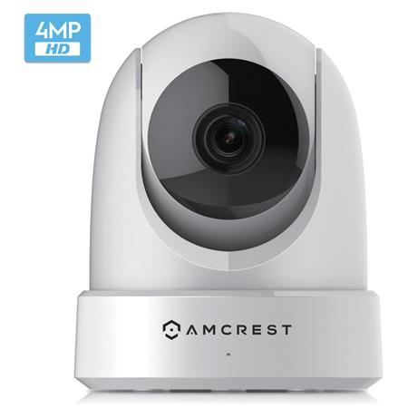 Amcrest 4MP UltraHD WiFi (2688x1520) Security Wireless IP Camera with  Pan/Tilt, Dual Band 5/2 4GHz, 2 Way Audio, White