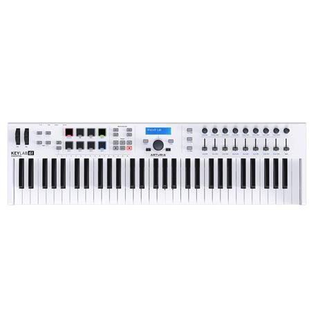 Arturia KeyLab Essential 61 Universal MIDI Controller and Software, White