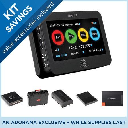 Atomos Ninja 2 Recorder, Bundle w/128GB SSD, Caddy ATOMNJA003 E