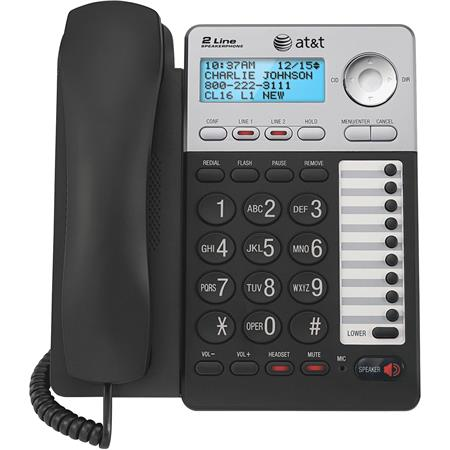 At T Ml17929 2 Line Corded Telephone