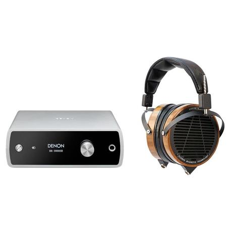 AUDEZE LCD-2 High-Performance Planar Magnetic Headphones with Travel Case,  - Bundle With Denon DA-300USB High Resolution Audio USB DAC & Headphone