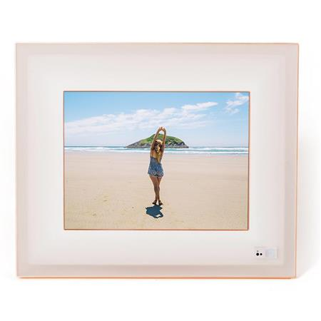 Aura Frames 97 High Resolution Led Digital Photo Frame Ivory Rosegold
