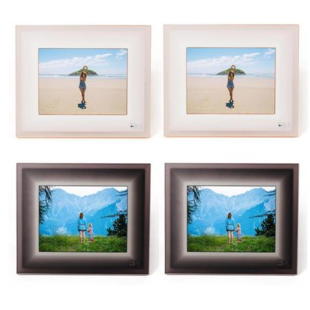 Aura Frames 97 Hr Led Digital Photo Frames 2x Ivory Rosegold